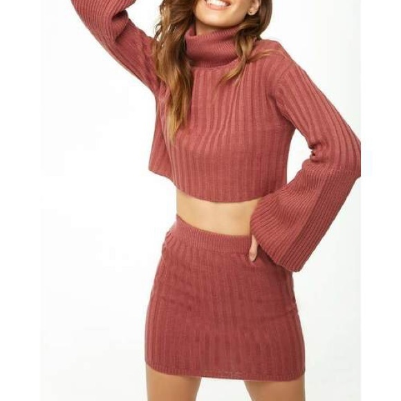 50dff18f0a F21 Cropped Turtleneck   Skirt Set  NWT . NWT. Forever 21